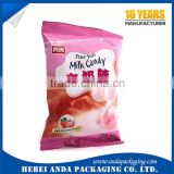 custom candy packing bag /candy bar wrapper film roll/ milk candy packing film