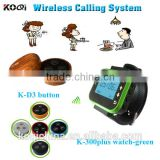 CE certification Print LOGO Restaurant Table Ordering System Service Calling Button Wireless Call Bell System