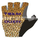 cycling gloves/non-slip bicycle glove/pro bike glove men half finger pro team tournament fishing gloves Sexy Leopard Grain