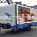 HD outdoor led tv display popular mobile trailer advertising outdoor p10 full color truck led display screen