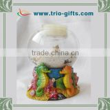 sea horse candle holder resin glass water ball