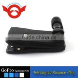 Go pro accessories 360-degree Rotation Clip & Screw for GoPro Hero 3+/3/2/1, Black.