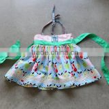 New Model kid cotton dress 2015 kid designer halter cute dress