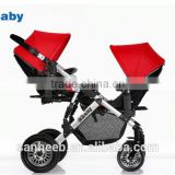 Fashionable design baby twin stroller,good double baby stroller