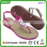 2016 Hot sale PVC comfort ladies slippers shoes and sandals