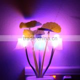 Square/Vase Head Plug Electric Light Sensor Dream Mushroom Fungus Lamp LED Lamp 220V 3 LEDs Mushroom Lamp Led Night Lights