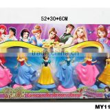 "4""-5"" sexy princess figures with base custom miniature figures little princess toy action figures 6pcs per set"
