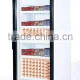 Vertical Glass Door Deep Freezer for ice Cream