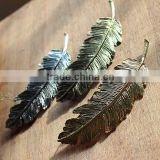 Fashion golden leaves Metal Clip For Women,Greece's women feather spring clip metal hair accessories