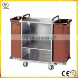 Heavy Duty Factory Wholesale Hotel Laundry Maid Trolley stainless steel hotel Housekeeping Cart products