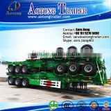 Factory Price Aotong 3 Axles 40 ft Skeleton Container Trailer , 20 ft Skeleton Semi Trailer Container Chassis