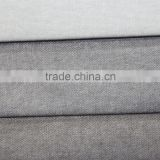 100% polyester Linen Look Brushed Fabric With Fabric Bonded
