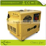 portable small silent 3kw electric diesel generator set price for home use