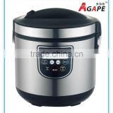 7L SILVER BLACK RICE COOKER WITH IMD TOUCHING SENSOR PANEL, LED DISPLAY, 10 PROGRAMS, BIGGEST CAPACITY, NEW DESIGN