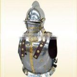 european medievel helmet and breast plate 12000