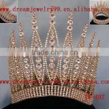 high quality tall crystal pageant crown