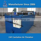 High efficiency cavitation air flotation device for oil water separating and oily wastewater separating