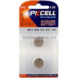 1.5V LR44/LR1154/A76/AG13 Alkaline Button cell battery 2pcs/card                                                                                                         Supplier's Choice