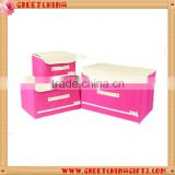 Foldable decorative non woven storage box