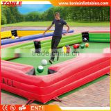 hot sale inflatable table football/ Huge Inflatable Billiards Table Soccer for sale