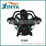 XINYA A-type 10 bar 20hp 120mm cylinder ac piston belt driven air compressor part compressor head iron air pump(3120A)