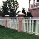 Hot sale pvc fence white colour pvc garden lattice, horizontal aluminium fence, valla de estacas