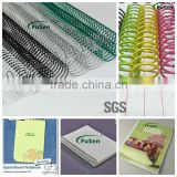 Nylon coated metal single coil binding with various color & size for binding supplier