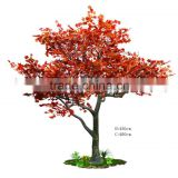 Red artificial maple tree maple leaves have oriental feeling tree for public place decoration