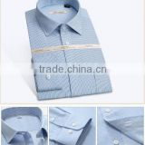 hot sale blue color slim fit fancy shirt pattern matching dress shirts pants