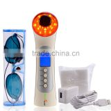 Ebay amazon hot selling 5 in 1 led light photon therapy facial massager device skin renewal system
