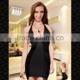 Temptlife Brand TL2207 sexy lingerie bodystocking Mini dress elegant lady Pencil dress sexy shiny lingerie nude body sexy