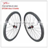 1440g 38mm CX carbon wheels 25mm wide 3K matte, 700C Chinese competitive carbon wheels with disc braking 9*100 front 10*135mm