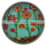 18 mm(inner diameter) Beautiful high-quality antique bronze Thorns flower Snap button zinc alloy snap button jewelry