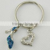 High-heeled shoe metal key chain for promotional gift, Various Designs and Sizes are Available,OEM&ODM service
