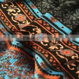 china manufacturer high quality border print dress fabric
