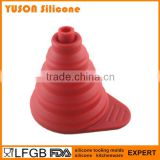 food grade collapsible mini silicone funnel