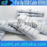 2014 new product alibaba multi 8pin usb 2.0 nylon braided cable for iphone 5/5s/5c charger and all ios systems devices