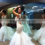(MY0811) MARRY YOU Custom Made Sexy Lace Mermaid Spaghetti Strap Backless Alibaba Wedding Dress 2016