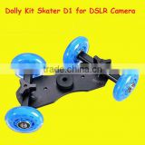 Camera Video DSLR Rig Movie Truck Skater Wheel TableTop Dolly Kit