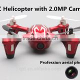 H107C 2.4G 4CH RC Helicopter Quadcopter with 2.0W/ 0.3MP Camera Red/Black/Blue outdoor flying Plane Helicopter