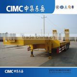Low Price CIMC Tri-Axle Heavy Duty Equipments Low Bed Semi Trailer Transport By Sinotruck