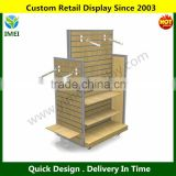 Commercial Garment display rack / MDF four side retail clothes display stand hangers YM6-066