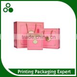 ORIGINAL CHINESE FACORY BOUTIQUE PURE COLOR PRINTING HOT STAMPING SHOPPING BAG WITH HANDLES