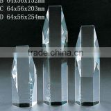 Grade A crystal blank block with engrave fdor crystal trophy and award (R-0393)