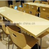 artificial stone dinning table marble top dining table designs in india,Acrylic soid surface Restaurant