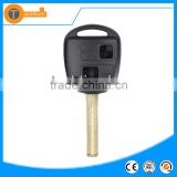 high quality 2 button remote car key shell wiht logo and uncut blade with chip groove for Toyota Lexus is200