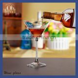 Glass manufacturer promotion wholesale handmade new desig OH13103 plastic cocktail glass, wine glass , mixing glass cocktail