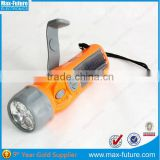 F-1718S Solar Crank Radio Flashlight,3 super-bright LED flashlight with Alarm and FM radio