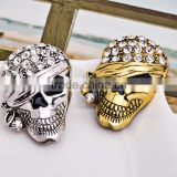 45*30mm New Arrival Rhinestone Hat Skeleton Vintage Accessories Good Gift Halloween Brooches For Women