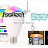 Smart Bulb Wireless Bluetooth Audio Speakers 3W E27 LED RGB Light Music Bulb Lamp Color Changing WIFI APP Control